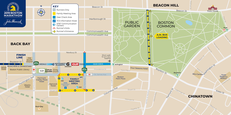 Marathon Subway Map.Transportation Boston Athletic Association