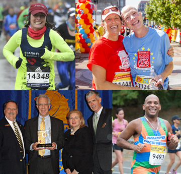 collage of dana-farber athletes